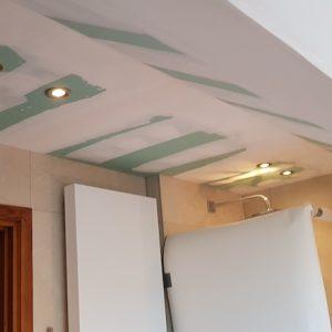 Gyproc plafond schuinte
