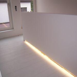 Indirecte verlichting trap